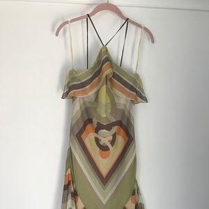 BCBGMaxAzria Multicolor Silk Dress XXS